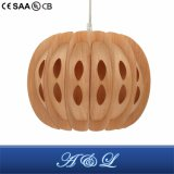 Hot Seller Natural Wood Skin Pendant Lamp for Living Room