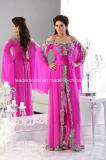 Fuchsia Chiffon Mother Dress Arabic Dubai Luxury Prom Evening Dresses Z5067