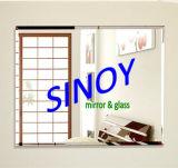 Unframed Silver Coating Beveled Square Mirror in Custom Size (SMI-SQM001)