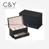 Carbon Fiber Black Wholesale Leather Watch Box