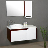 MDF Baking Lacquer Bathroom Cabinets with White Painting