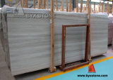 White Grey Coffee Wooden Vein Marble Slab for Floor Tiles