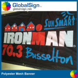 Wholesale Custom Advertising Sublimation Printed Polyester Fabric Shade Cloth Mesh Banner