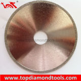 Electroplated Diamond Saw Blade with Continuous Rim for Cutting Marble