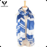 Lady′s Soft Hand Feel Stripe Print 100% Modal Scarf Wholesaler
