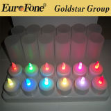 2012 Newest! ! Color Changing LED Rechargeable Candle Light (C210807)