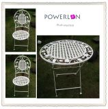 3PCS Superior Elegant Fashion Decorative Metal Wrought Iron Foldable Coffee Table Chair