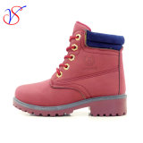 Family Fitted Kids Children Injection Safety Working Work Boots Shoes for Outdoor Job (SVWK-1609-042 WINE)