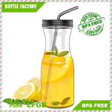 Hot Sale 1L Plastic Juice Jar with Tumbler
