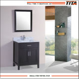 Small Solid Wood Bathroom Vanity with Marble Top (T9150)