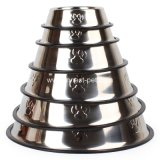 Stainless Steel Paw Dog Bowl, Pet Supply