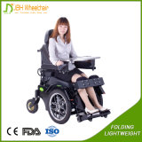 Standing and Lying Electric Battery Powered Wheelchair with Leg Support