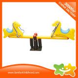 Cute Amusement Equipment Two Ponies Teeterboard for Children
