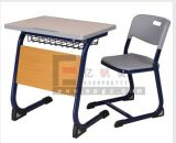 Hot Slale School Single Wooden Desk and Plastic Chair