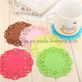 Flower Design Silicone Coaster Set