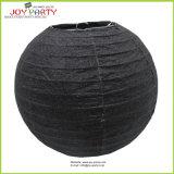 Glittering Black Round Paper Lanterns