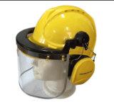 Clear Flip Front Visors Including Safety Helmet Earmuff and Visors