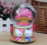 Polyresin Cute Water Globe Snowglobe for Decoration
