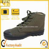 Green Canvas Army Training Boots