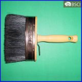 Black Bristle Ceiling Paint Brush with Wooden Handle (THB-002)