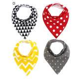 Wholesale Double Layers 4PCS Packing Baby Cotton Bibs with Ykk Button