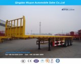 High Flatbed Semi Trailer 3fuwa Axle Container Locks Front Wall