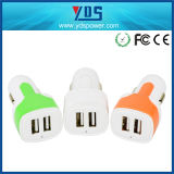 Promotional Customized Mini Universal USB Car Charger, Dual USB Car Charger