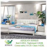 2013 New Modern Bedroom Leather Bed (5-048A)