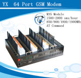 64 GSM Modem Pool, 64 USB GSM Modem, 64 Port SMS Modem Pool Support TCP/IP