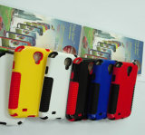 PC & Silicone Combined Mobile Case for Samsung S4 (KZC-S401)