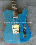 Set in Neck Quilted Maple Top Super Tele Electric Guitar
