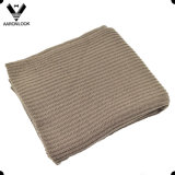 Household Adult Plain Acrylic Rib Knit Blanket