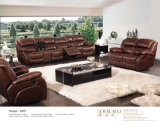 Genuine Leather Recliner Sofa (850)