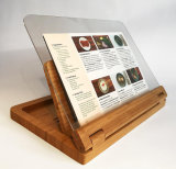 Bamboo Recipe Rack with Acrylic Transparent Baffle Board