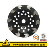 "4""-9"" Arrow Segment Diamond Grinding Cup Wheel for Concrete"