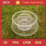Wedding Party Round Pearls Beaded Glass Cake Fruit Plate
