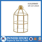 Copper Color Geometric Glass Lantern for Plant Holder