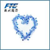 2cm PVC Heart Shape Tinsel Garland for Decoration