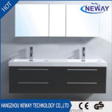 Wholesale PVC Wall Mounted Double Sink Bathroom Cabinet with Mirror