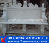 Garden Furniture White Marble Carved Bench
