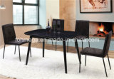 Black Bistro Rustic Dining Furniture for 4 People (FOH-BCA90)