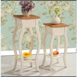 Simple Solid Wood Circular Flower Stand