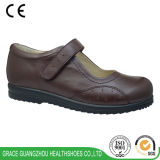Brown Women Orthopedic Diabetic Shoes for Comfortable Wearing