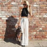 Women Fashion Clothes Crop Top Cotton Rib Custom Tank Top