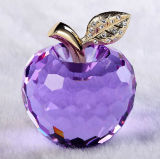 Lover Purple Crystal Apple for Birthday Gift