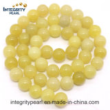 Hot-Selling New Arrival Natural Gemstone Loose Strand 4 6 8 10 12mm Natural Lemon Jade Stone Rough