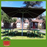 Outdoor Used Square Central Side Post Umbrella