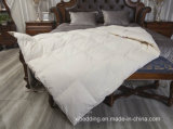White Linen Goose Down Comforter with Cotton Percale Shell