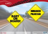 Plastic PP/PVC Baby on Board Sign, Car Window Sign, Car Sticker with Sucker/ Suction Cup