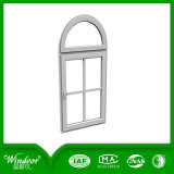 Double Security Glass UPVC Windows with Grill Design